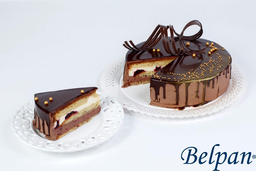 Tort Choco şi Vanilie cu cremă vişine - de post